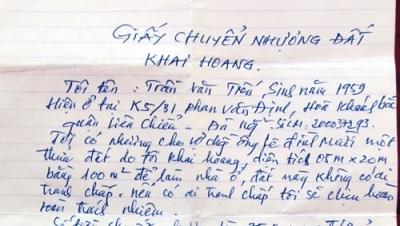 Mua bán đất ruộng bằng giấy tờ viết tay có hiệu lực không? - Luật Trung Kiên